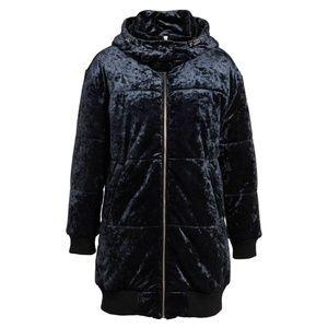 BP Nordstrom Blue Velvet Hooded Puffer Jacket